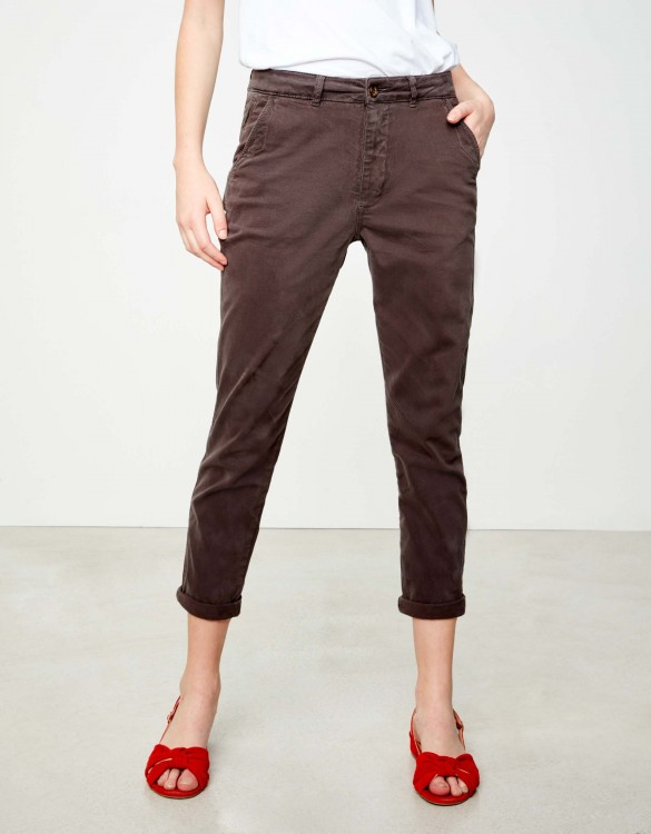 Chino tapered Trousers Scott - CARBONE