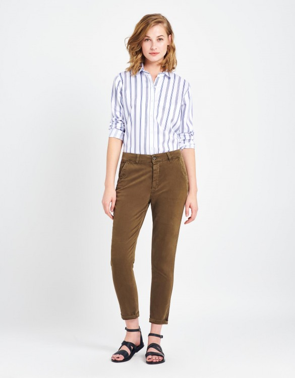 Chino tapered Trousers Scott - VINTAGE KAKI