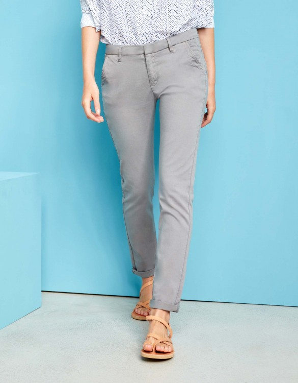 Chino Trousers Sandy - MOSS GREY