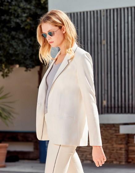 Blazer Blair Color - WHITE - NAVY