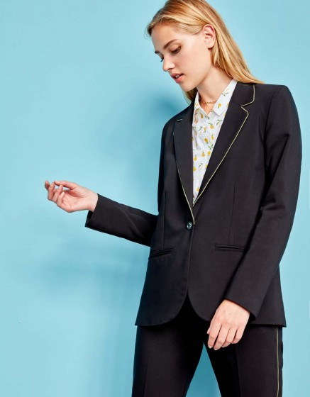 Veste blazer Blair Color - BLACK KAKI