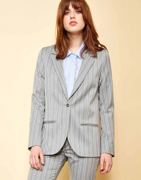 Blazer jacket Blair Fancy - STEEL STRIPED