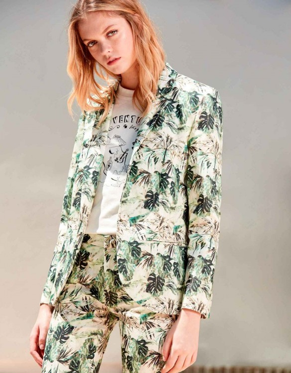 Blazer Blair Printed - PALM GREEN