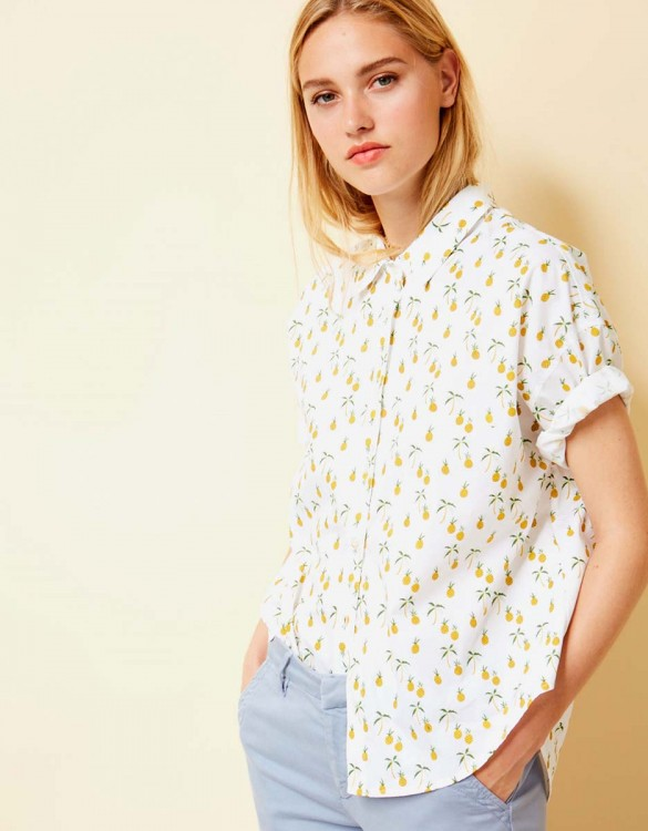 Shirt Cléo Printed - PINEAPPLE