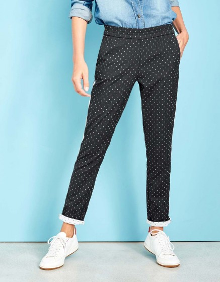 Pantalon street Elvin Fancy - BLACK DOTS