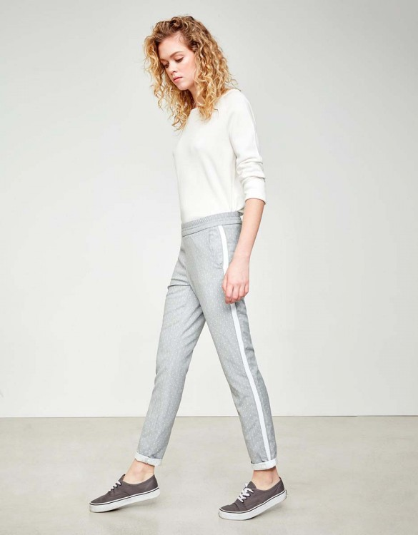 Street trousers Elvin Fancy - GREY DOTS