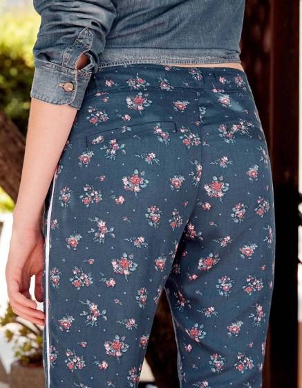 Street trousers Elvin Printed - BLUE GARDEN