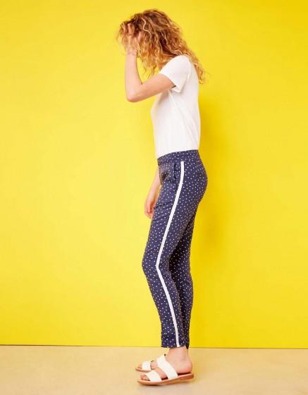 Street trousers Elvin Printed - DOTS INDIGO