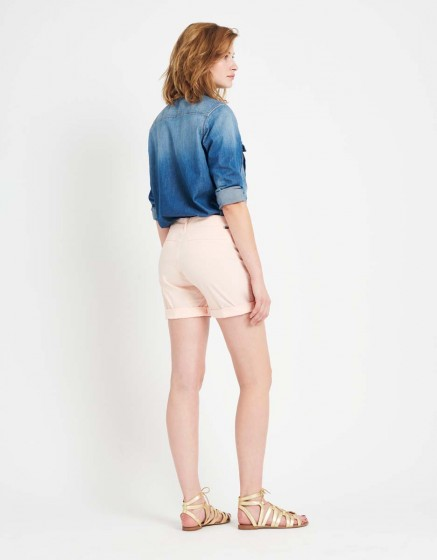 Short Stacy Color - POUDRE
