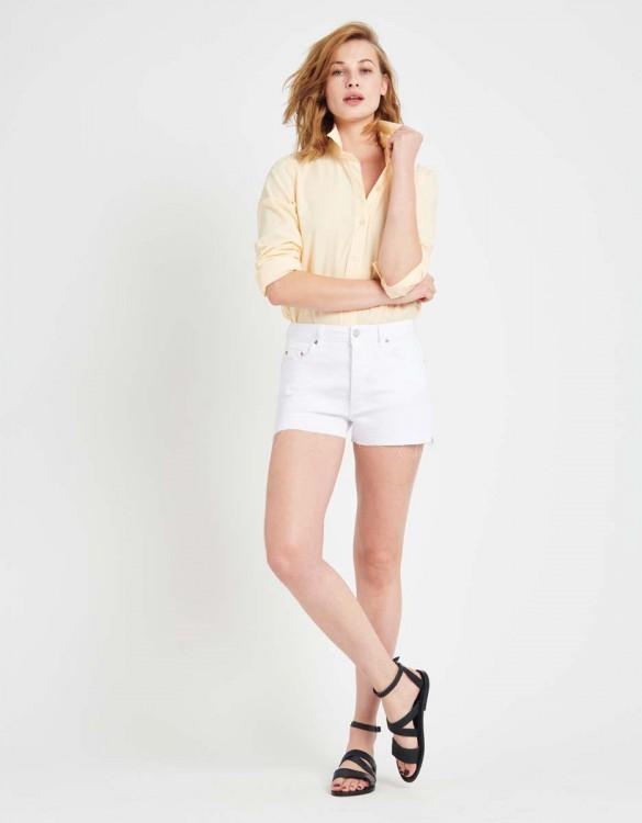 Short en jean coloré Servane Vintage - WHITE