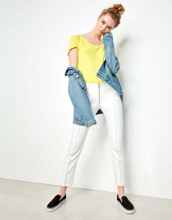 Cigarette Trousers Laurent Color - WHITE