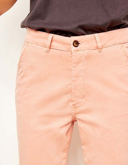 Chino tapered Trousers Scott - DUSTY CORAL