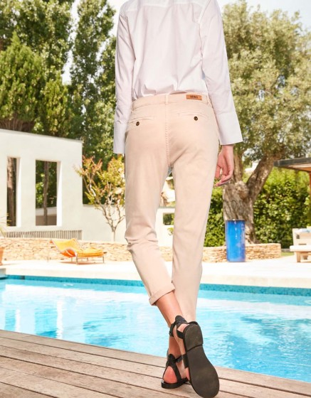 Pantalon chino tapered Scott - ALMOND