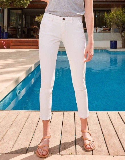 Chino Trousers Sandy Skinny - WHITE