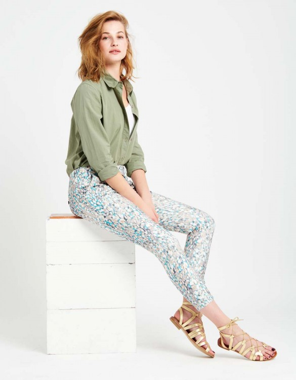 Chino Trousers Sandy Skinny Printed - SCALE BLUE