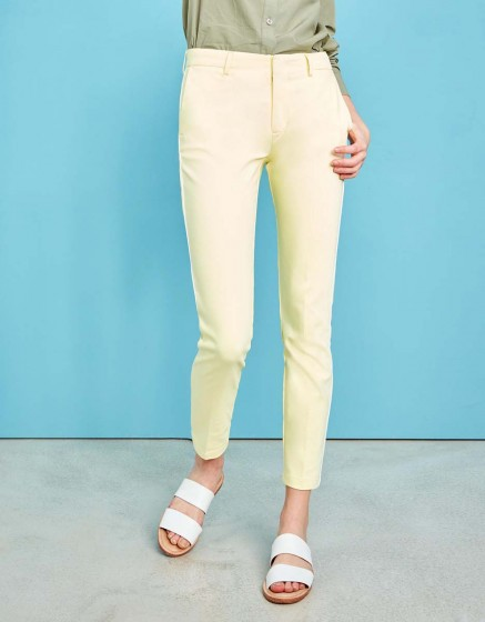 Cigarette Trousers Lizzy Color - LIGHT CITRUS PIPING