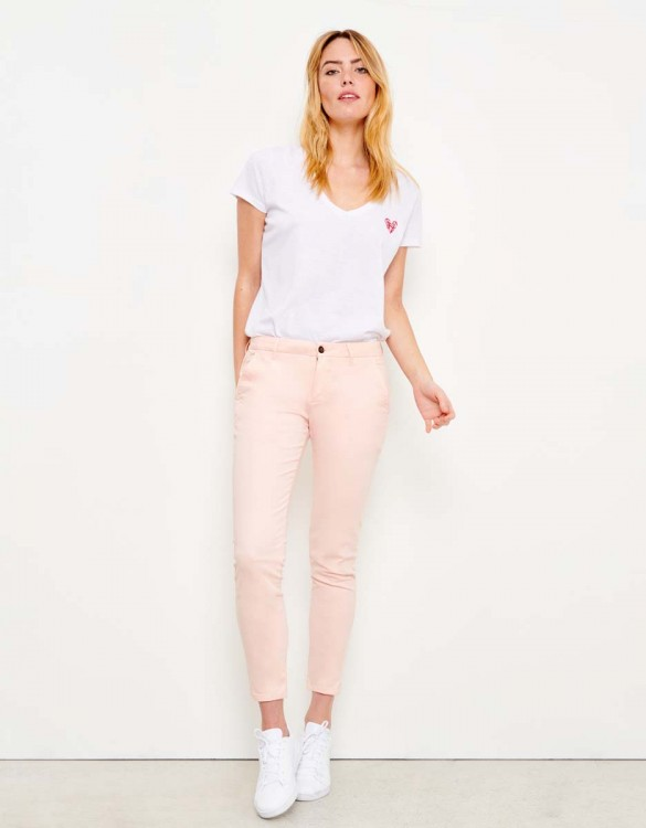 Chino Trousers Sandy Skinny - POUDRE