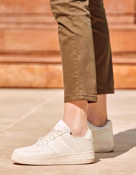 Chino Trousers Sandy Skinny - DARK KAKI