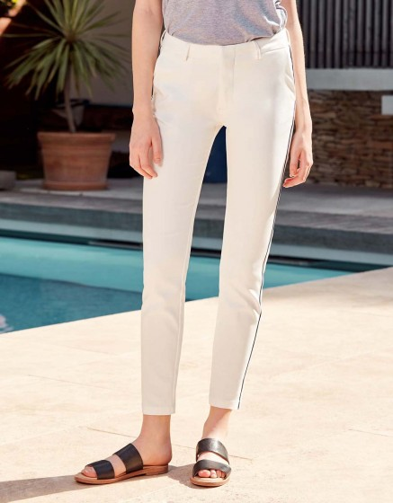 Pantalon Cigarette Lizzy Color - WHITE PIPING