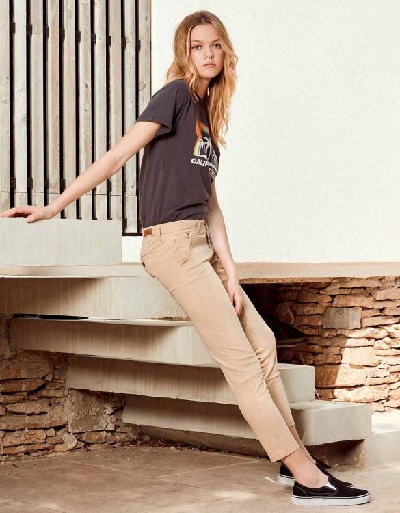 Pantalon chino Sandy Skinny - BEIGE
