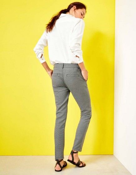 Cigarette Trousers Lizzy Fancy - BLACK MESH