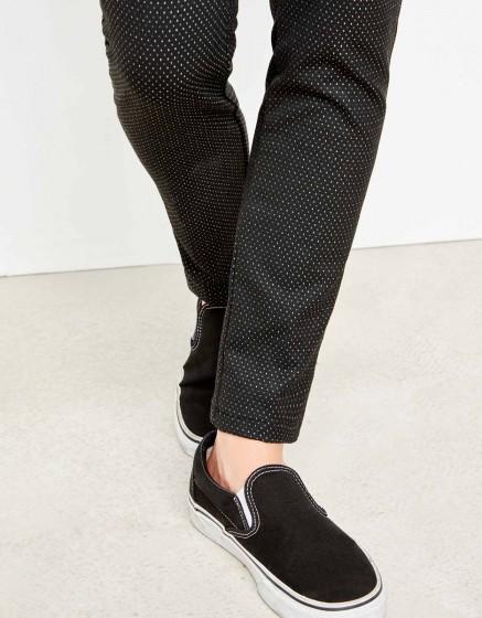 Cigarette Trousers Lizzy Fancy - GREY DOTS