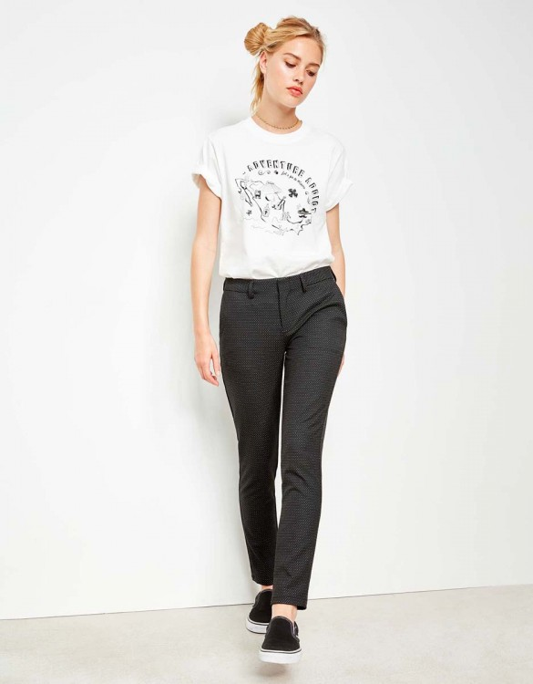 Cigarette Trousers Lizzy Fancy - GREY DOTS