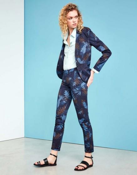 Pantalon chino Sandy Skinny Printed - NAVY TROPIC