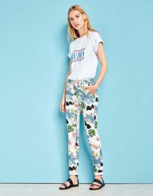Pantalon chino Sandy Printed - DAHLIA