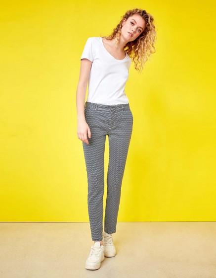 Cigarette Trousers Lizzy Fancy - INDIGO SQUARES
