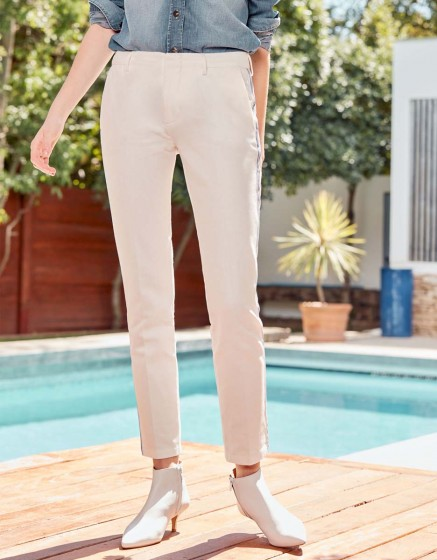 Cigarette Trousers Lizzy Fancy - MIDDLE WHITE