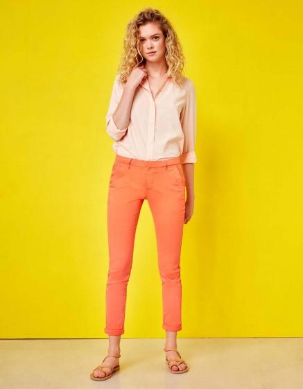 Chino Trousers Sandy - FLAMINGO