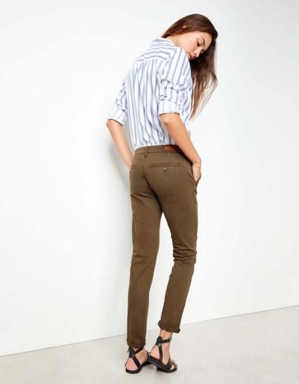 Pantalon chino Sandy - DARK KAKI