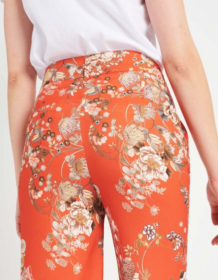 Straight cropped trousers Luis Printed - SUN FLOW