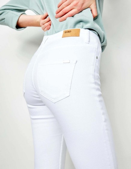 Straight cropped jean Prue - DNM WHITE