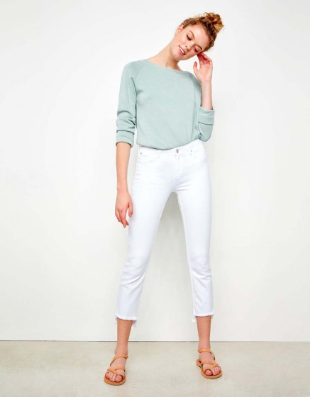 Jean straight cropped Prue - DNM WHITE
