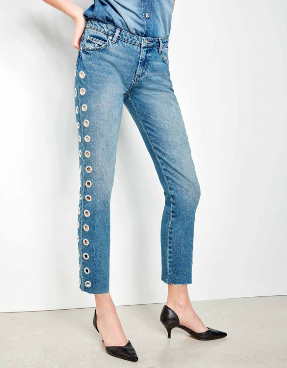 Jean straight cropped Preston Holes - DNM M-85