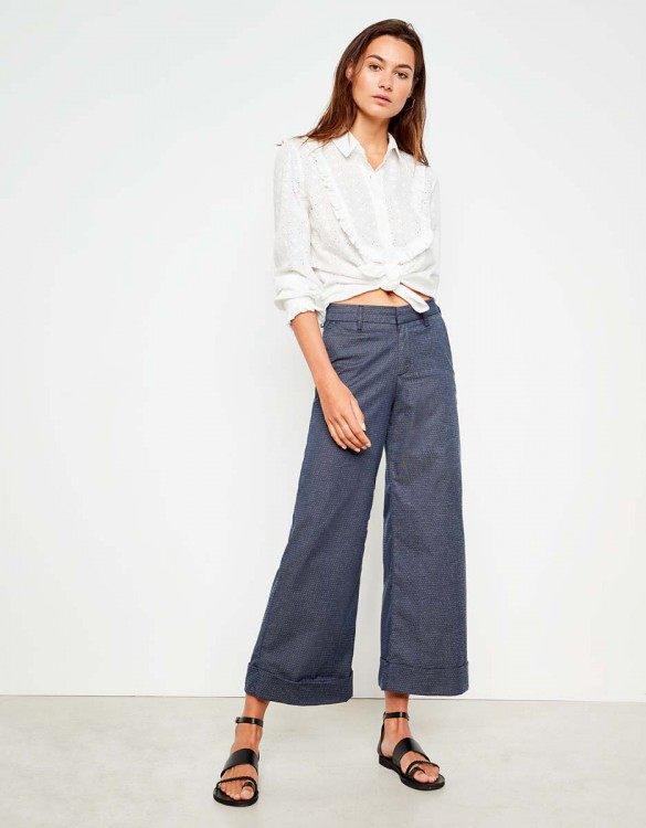 Wide cropped Trousers Paolo Fancy - VINTAGE DOTS