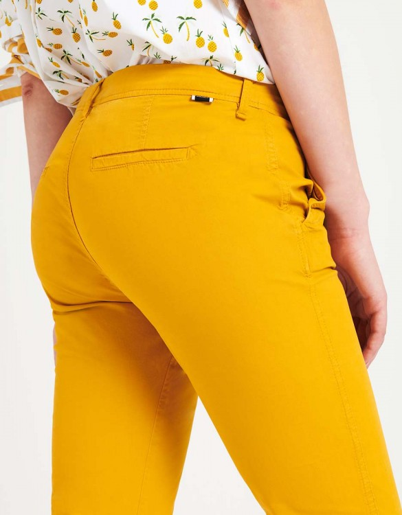 Light Chino trousers Pam - SUNFLOWER