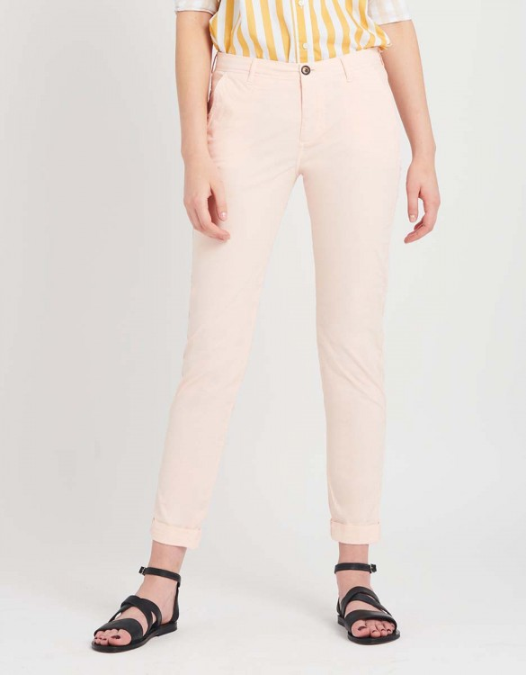 Light Chino trousers Pam - POUDRE