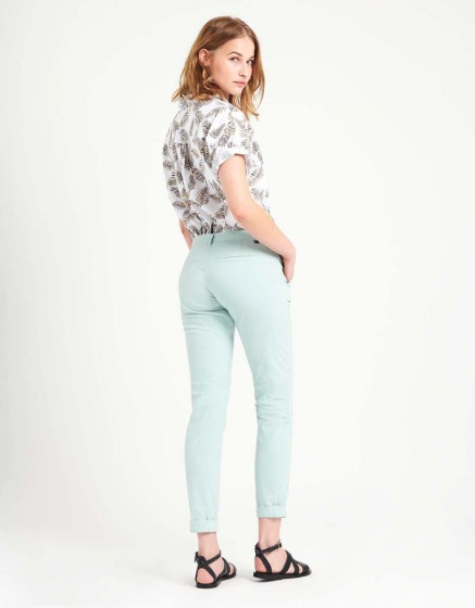 Light Chino trousers Pam - GLACIER