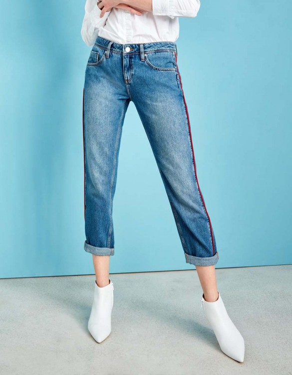 Boyfriend jean Nina Piping - WATERMELON DNM B-27