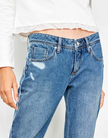 Boyfriend jean Nina Piping - WHITE DNM B-27