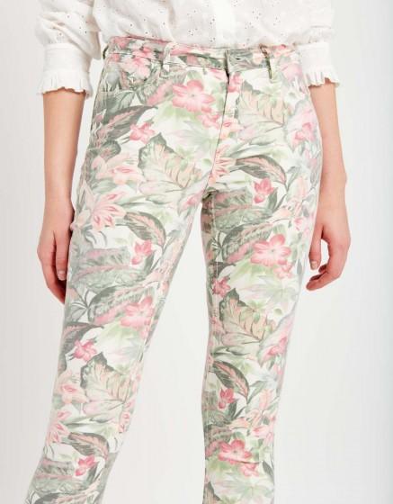 Pantalon skinny cropped Lily Printed - BAY FLOWER