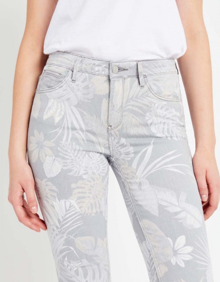 Skinny cropped trousers Lily Printed - TROPIC STORM