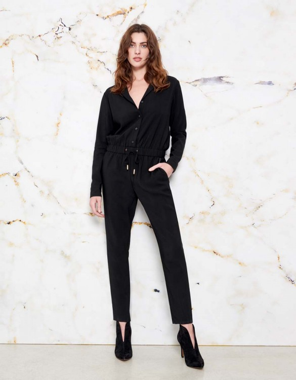 Jumpsuit Clayton color - BLACK