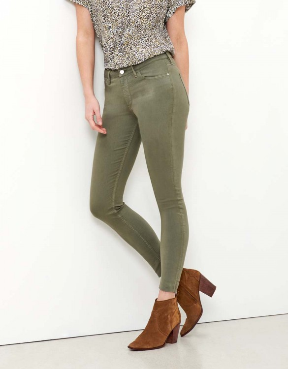 Pantalon skinny cropped Lily Color - SAUGE