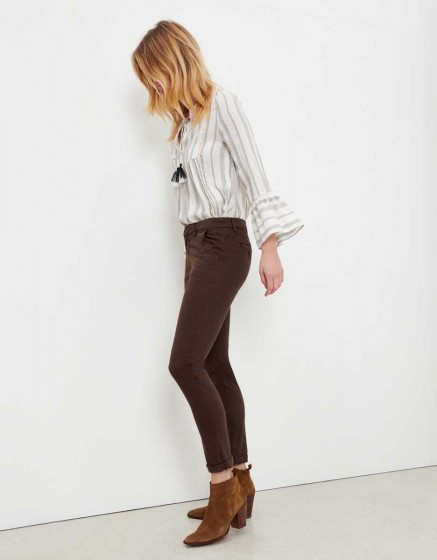 Pantalon chino Sandy - ANTIC BROWN