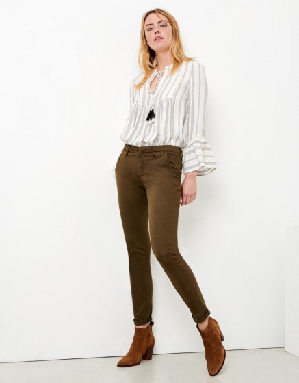 Chino Trousers Sandy - DARK KAKI