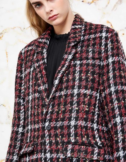 Manteau Valentin - BURGUNDY PLAID